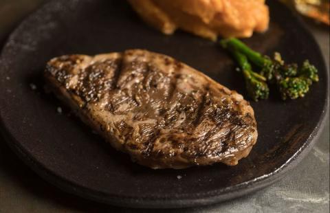 El primer chuletón del mundo de carne de laboratorio.