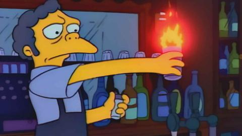 Moe preparando su Flameado.