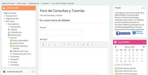 Foro Campus Virtual rastreador COVID-19.