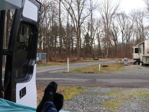 Vista desde la caravana.