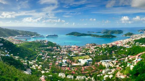 La isla de Saint Thomas, en las Islas Vírgenes de EEUU