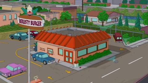 Bar Krusty Burger.
