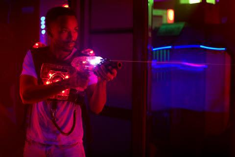 Laser tag.