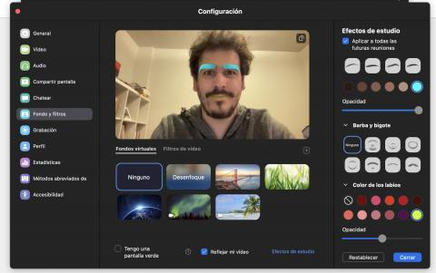 Nuevos filtros de Zoom