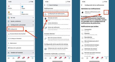 Reducir notificaciones en Facebook