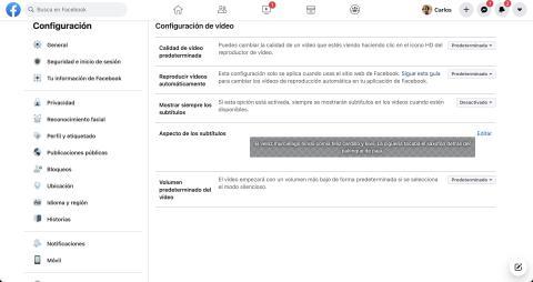 Reproducir vídeos automáticamente de Facebook
