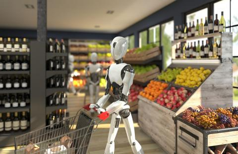 Robots en el supermercado.