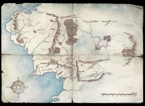 Mapa de la Segunda Edad según Amazon