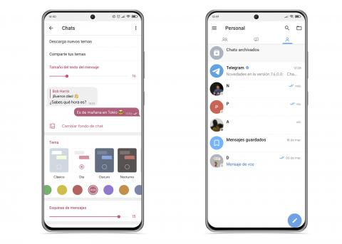 Ajustes diseño Plus Messenger