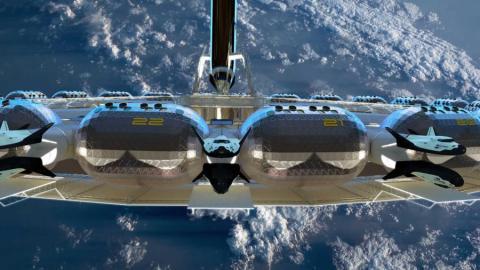 La estación estará compuesta por anillos que orbitarán la Tierra, a una distancia de 400 kilómetros.