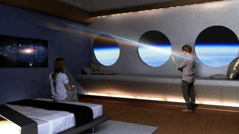 Ejemplo de uno de las habitaciones del hotel espacial.