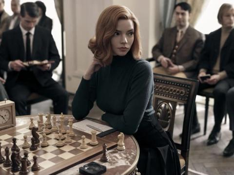 Ana Taylor-Joy en 'Gambito de Dama'.