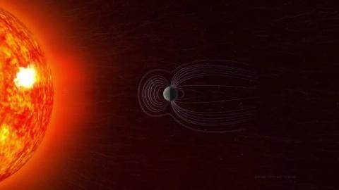El campo magnético de la Tierra protege al planeta de la radiación solar.