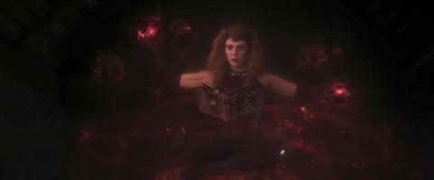 Elizabeth Olsen en el episodio 9 de 'Wandavision'