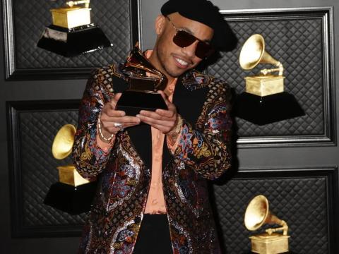 Anderson .Paak en los Premios Grammy 2021.