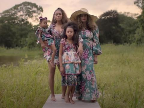 Beyoncé y su familia en el vídeo musical 'Brown Skin Girl.