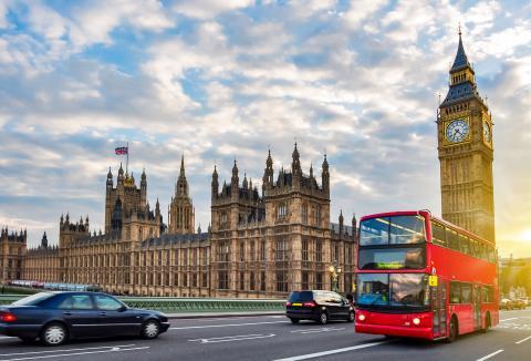 El Big Ben desde el puente de Westminster.