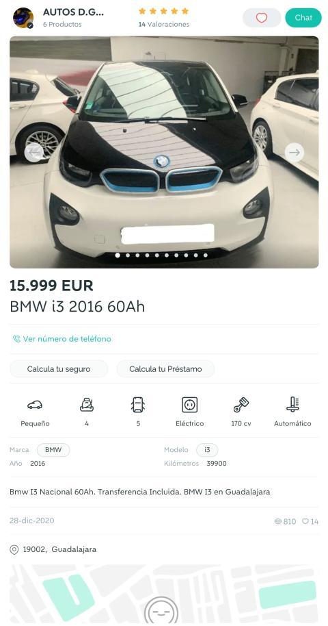 BMW i3 búsqueda wallapop