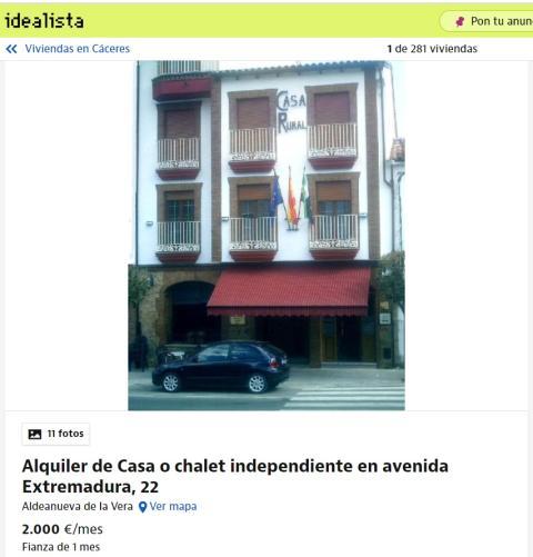 Cáceres – 2000 euros