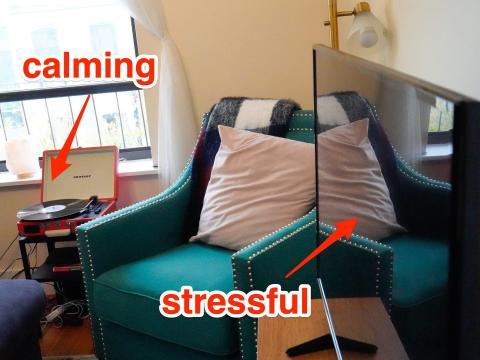 La TV puede tener un efecto estresante.
