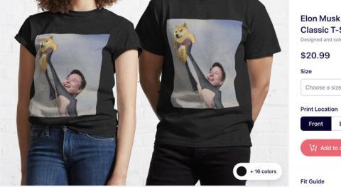 Las camisetas Dogecoin inspiradas en Elon Musk han triunfado en internet.