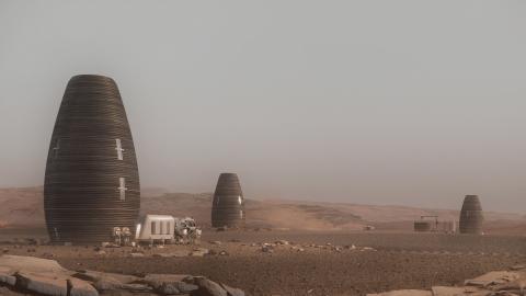 Así son las viviendas de AI SpaceFactory, construidas para habitar Marte.