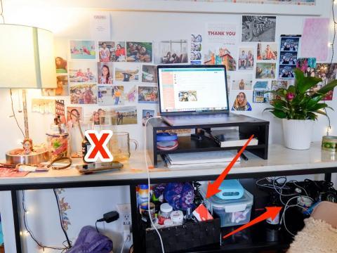 Basura y objetos innecesarios en el lugar de trabajo.
