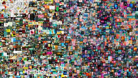 Collage de 5.000 imágenes del artista estadounidense Beeple.