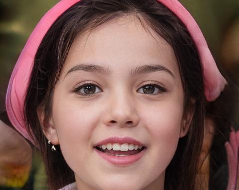 Retrato de una niña, generado por Inteligencia Artificial.