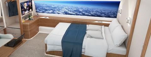 Dormitorio avión supersónico