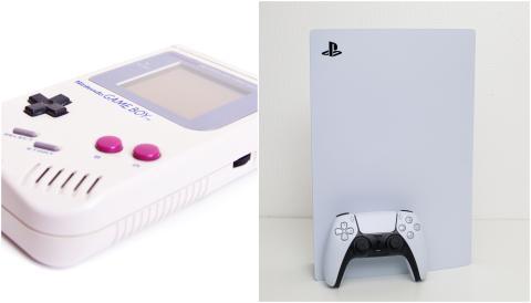 Game Boy vs. Play Station 5.