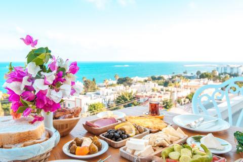 Ejemplo de algunas comidas típicas de Grecia.