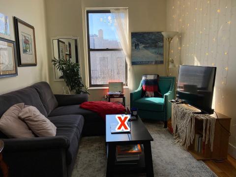 Los terapeutas no recomiendan trabajar y descansar en la misma zona de tu hogar.