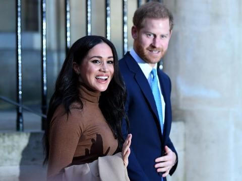 El príncipe Harry y Meghan Markle en enero de 2020.