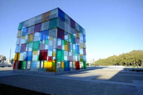 El museo Pompidou en Málaga es uno de los atractivos turísticos de la ciudad.
