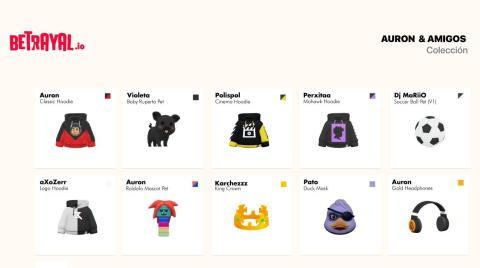 Estos son algunos de los objetos que los desarrolladores de End Game Interactive, desarrolladora de 'Betrayal', ha creado para los streamers.