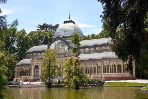 Palacio de Cristal, El Retiro, Madrid.