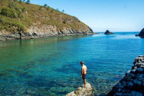 Playa de Tauran, en Asturias