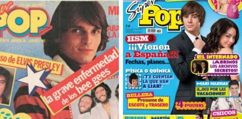 Algunas de las portadas de 'Súper Pop' vieron pasar a Miguel Bosé o Zac Efron, entre otros.