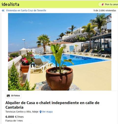 Santa Cruz de Tenerife– 6.000 euros
