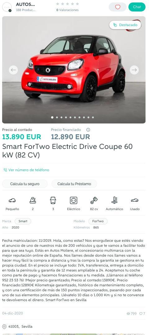 smart EQ búsqueda Wallapop