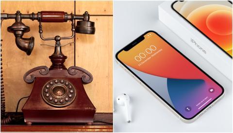 Teléfono antiguo vs. Iphone 12.
