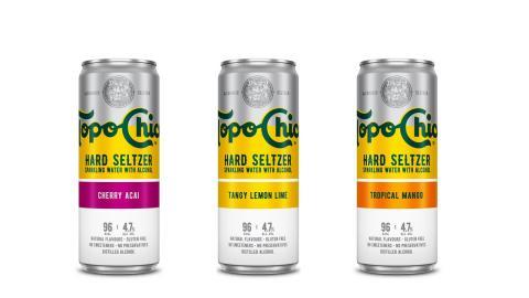 Topo Chico Hard Seltzer estará disponible en botellas de 33 cl y en 3 sabores efervescentes: Lima-limón, Cherry Açai y Tropical Mango.
