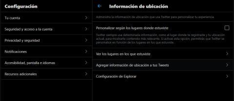 Ubicacion twitter