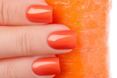 Uñas zanahoria.