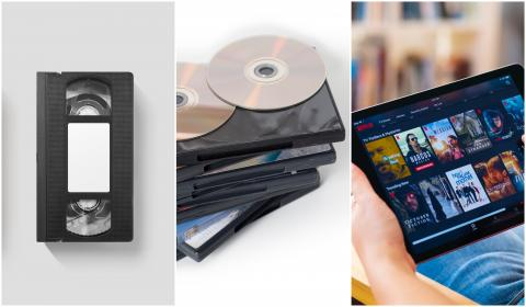 VHS, DVD y Netflix.