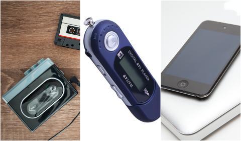 Walkman, mp3 y iPod.