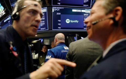 El 3 de abril de 2018, Spotify salió a Bolsa (Reuters)