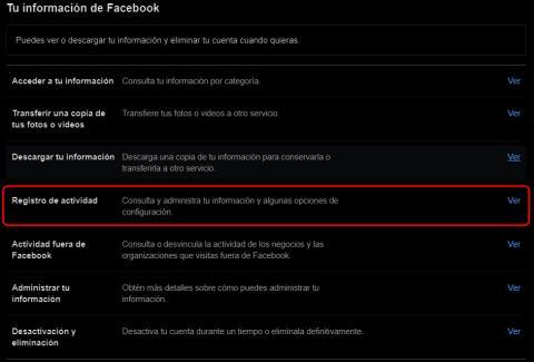 Actividad facebook