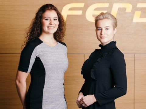 Alexandra y Katharina Andresen.